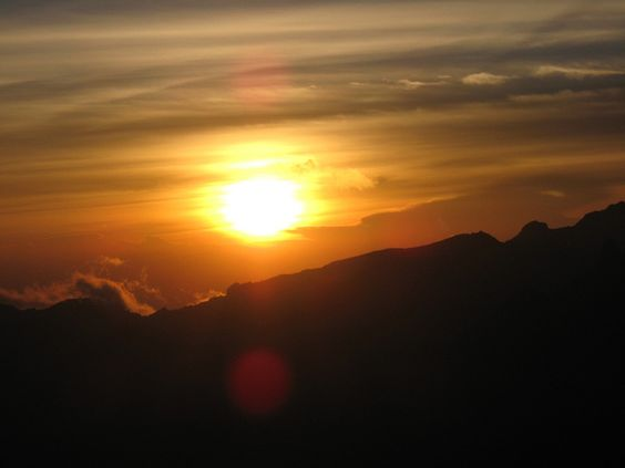 Sunset on Mt. Kilimanjaro. i want to climb it too!
