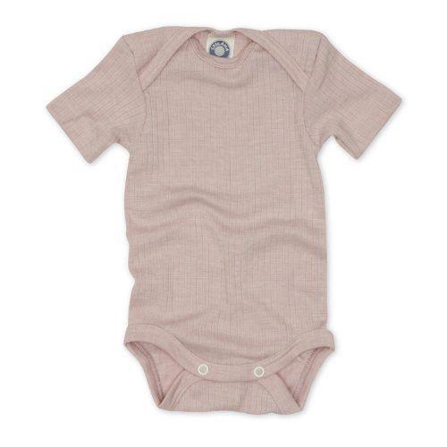 /Baby Body a manica corta Cosilana/ 20/% seta 35/% lana merino organica 45/% in cotone biologico