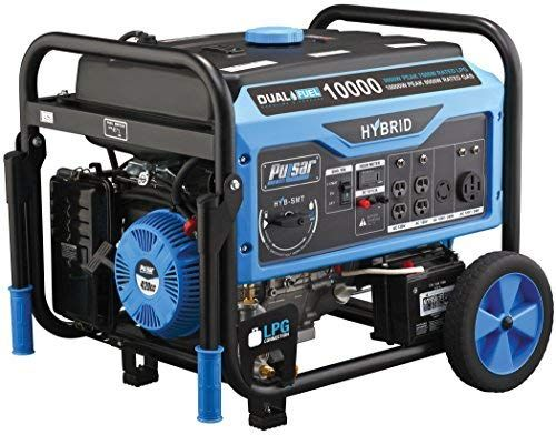 Amazon Com Pulsar Products 10 000w Switch Go Technology And Electric Start Pg10000b16 Dual Fuel Dual Fuel Generator Propane Generator Portable Generator