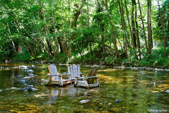 Big Sur River <3 rafted from the campgrounds to here at these chairs at the inn. Seriously soooo much fun