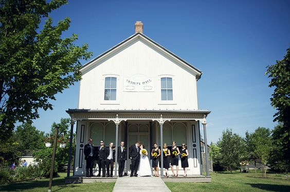 A #wedding at the Markham Museum in Ontario, Canada.