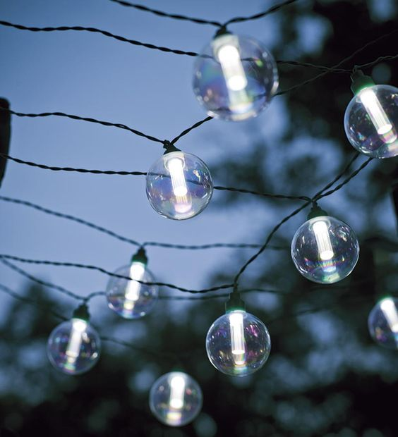 Clear Solar Lights   String Lights For The Patio! They Are Solar Powered So  No