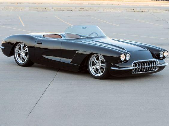 Corvette Roadster 60 & Mustang Fastback 67  --- beautiful !
