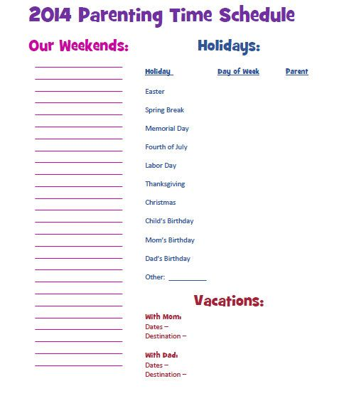 Visitation calendar georgia custody and visitation for Co parenting calendar template