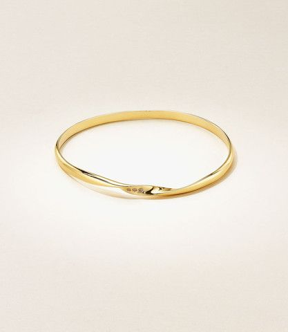 Sweet Charity Twist Bangle - 18K Yellow Gold with Diamonds - a wonderful reminder of the spirit of giving, this bangle was created for the Boys & Girls Aid in Portland, Oregon, which will receive 20% proceeds of the profits from each bangle.