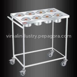 Banking on our enriched industry experience, we are engaged in offering a huge gamut of Masala Trolleys. Our masala trolley has stainless steel cups to hold different types of masalas.Check it out at http://www.pepagora.com