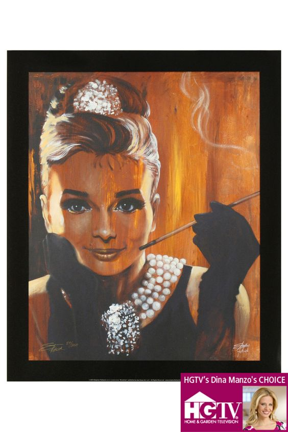 Audrey Giclee on Canvas by Stephen Fishwick