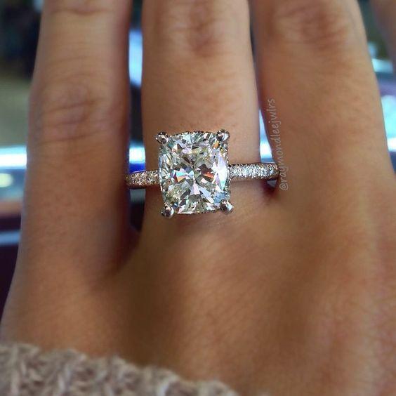 Cushion Cut Ring - Raymond Lee Jewelers