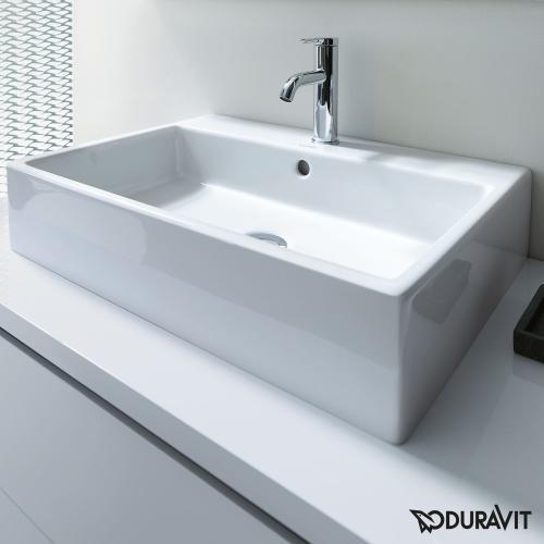 Duravit Vero Air Waschtisch Weiss Mit 1 Hahnloch Geschliffen Mit Uberlauf Duravit Waschbecken Waschbecken Duravit