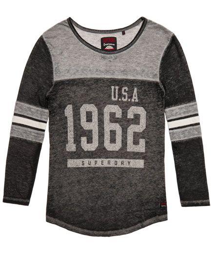 Superdry Camiseta USA 1962 Burnout Varsity  Gris