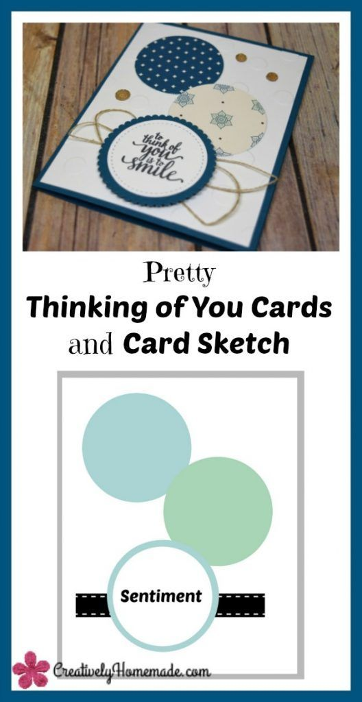 Pretty Handmade Thinking Of You Cards And A Card Sketch With