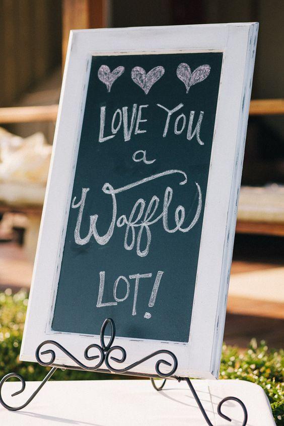 Wedding waffle bar: