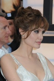 chignon wedding hair updo- Angelina Jolie style
