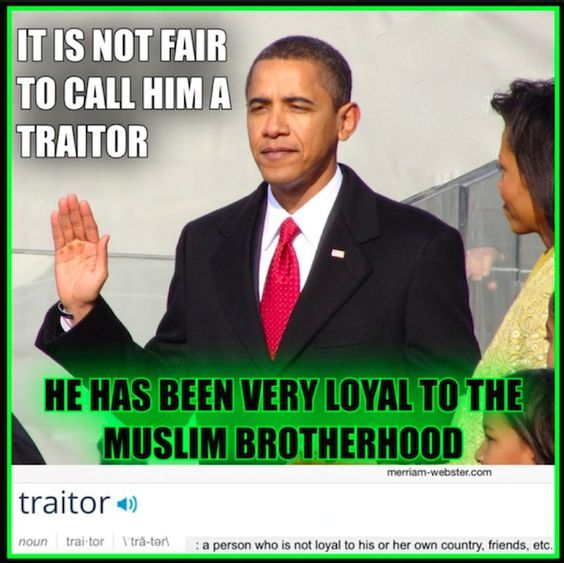 QUESTION: Is Obama A Traitor? This Pic Says 'No' And I AGREE