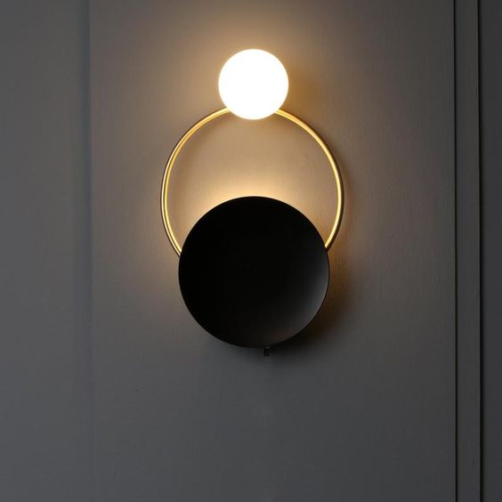 I Do Gold Mat Brass Wall Sconce Globe Sconce Minimal Sconce Light Wall Lamp Mid Century Sconce Wall Sconce Lighting Sconce Lighting Wall Lights