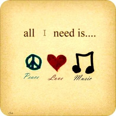 peace <3 music