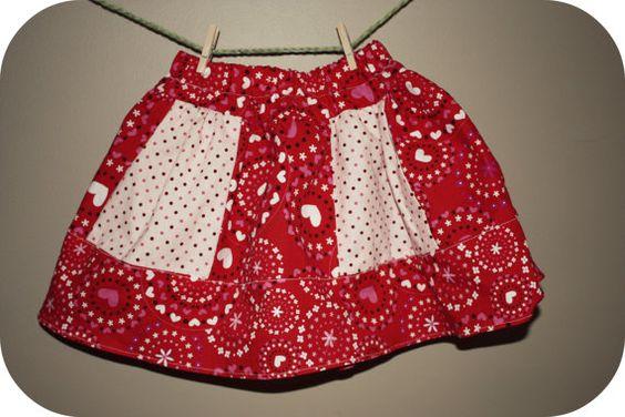 Valentine Sweetheart Twirly Skirt by nagibbs on Etsy, $23.00