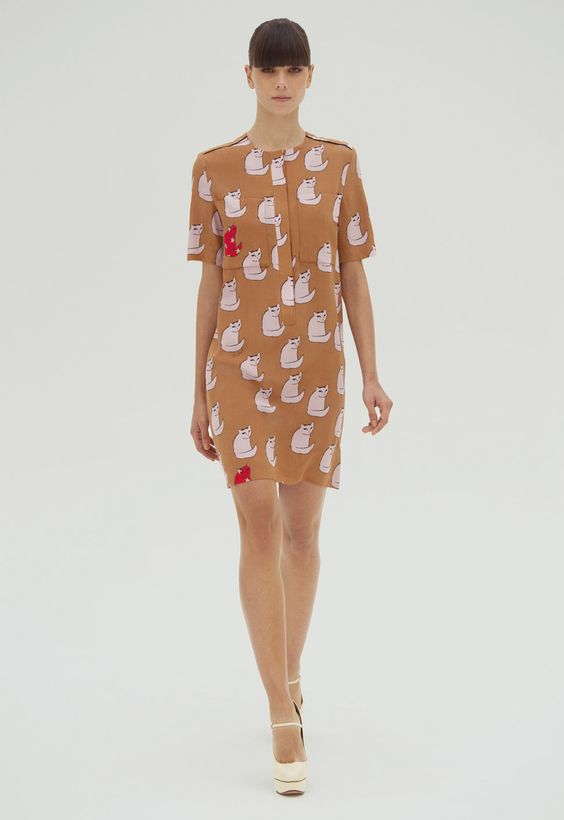 Victoria by Victoria Beckham - another adorable cat-print dress
