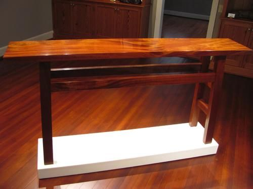 "Gorgeous, Beautiful & light-filled ""sapele - hall or sofa table"" by Rex White of Fredericksburg, Texas."