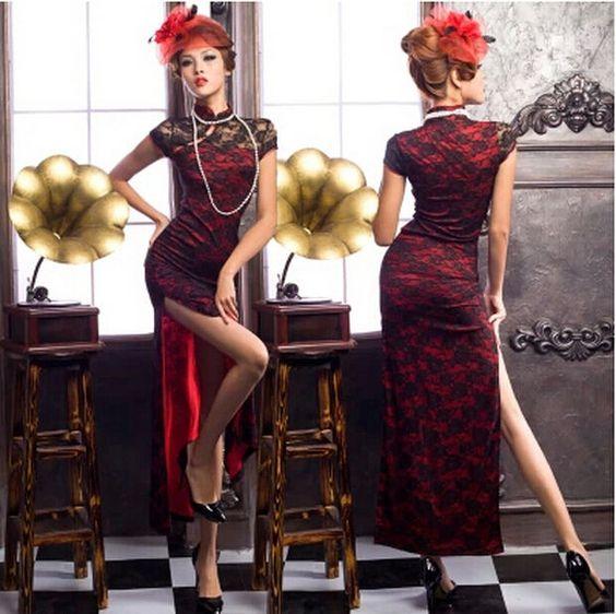 qp001 robe de sc ne robe de soir e cheongsam robe chinoise. Black Bedroom Furniture Sets. Home Design Ideas