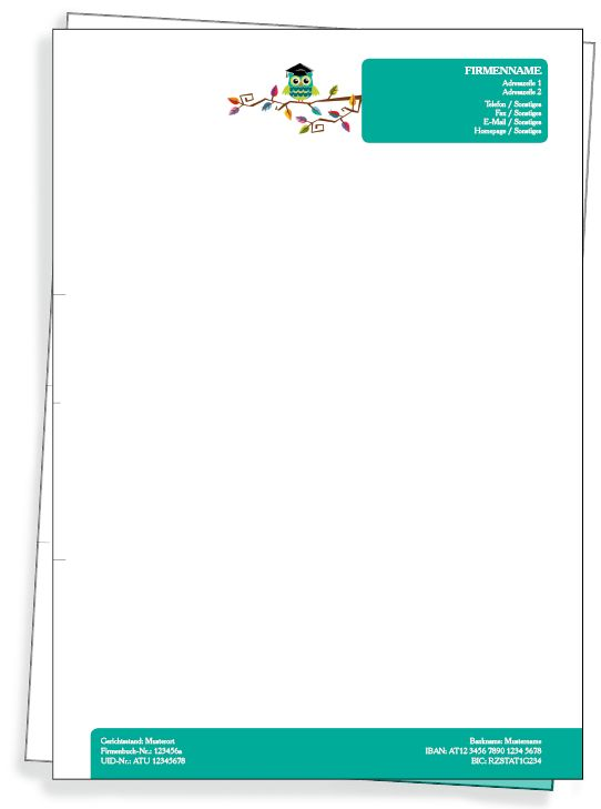 #Briefpapiermotive zur kostenlosen Gestaltung von #onlineprintxxl