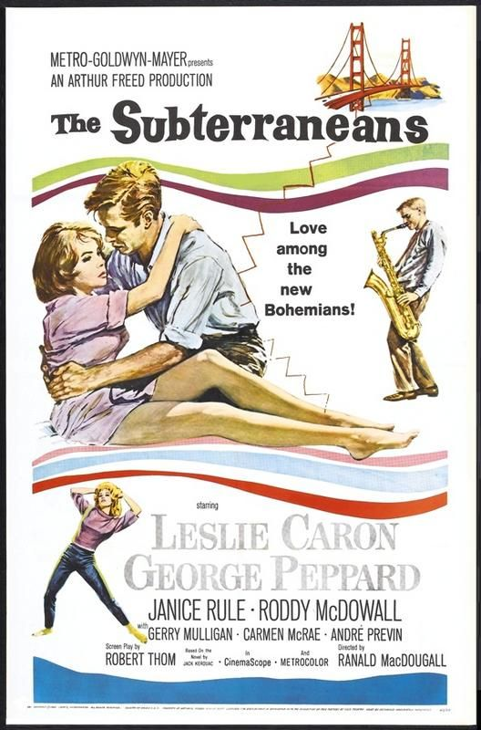 The Subterraneans - USA (1960) Director: Ranald MacDougall | Movie posters,  George peppard, Leslie caron