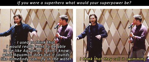 """(gif set) """"I think that they call it swimming."""" 