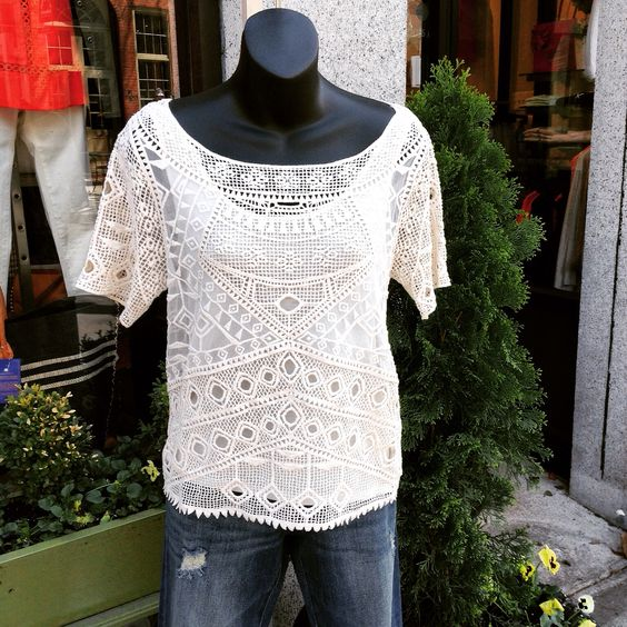 Crochet top with denim #jmodefashions