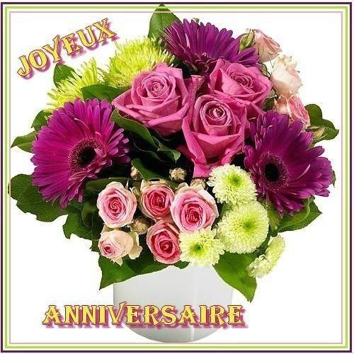 Joyeux Anniversaire bouquet de fleurs