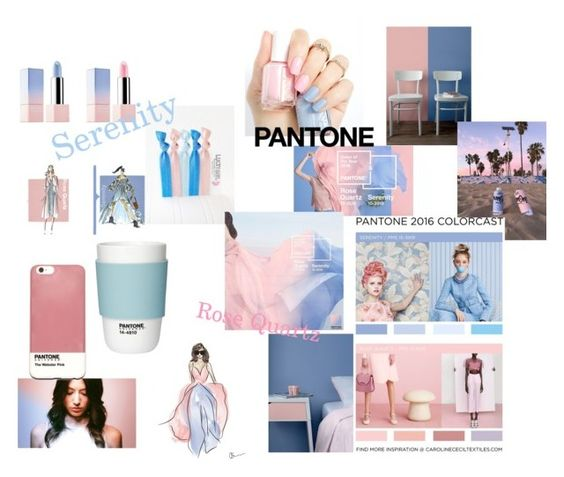 """""""Serenity & Rose Quartz At their Best"""" by awesomenesness ❤ liked on Polyvore featuring Pantone"""