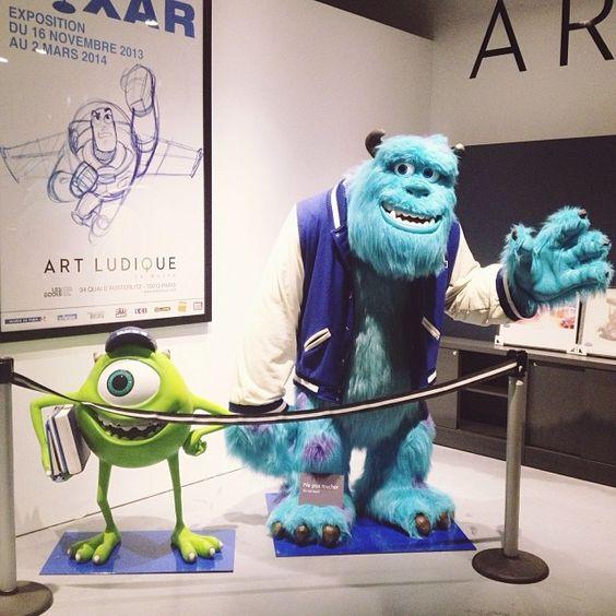 """""""Mike and Sully  #pixar #artludique #paris"""""""