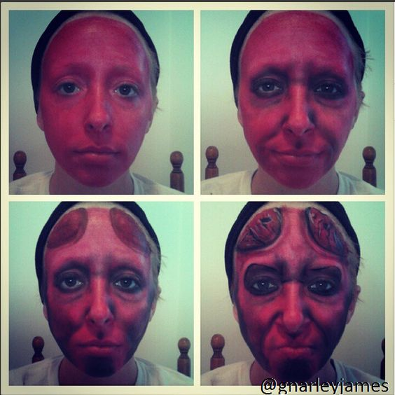 Hellboy #facepaint #bodyart #makeupbymarley #hellboy