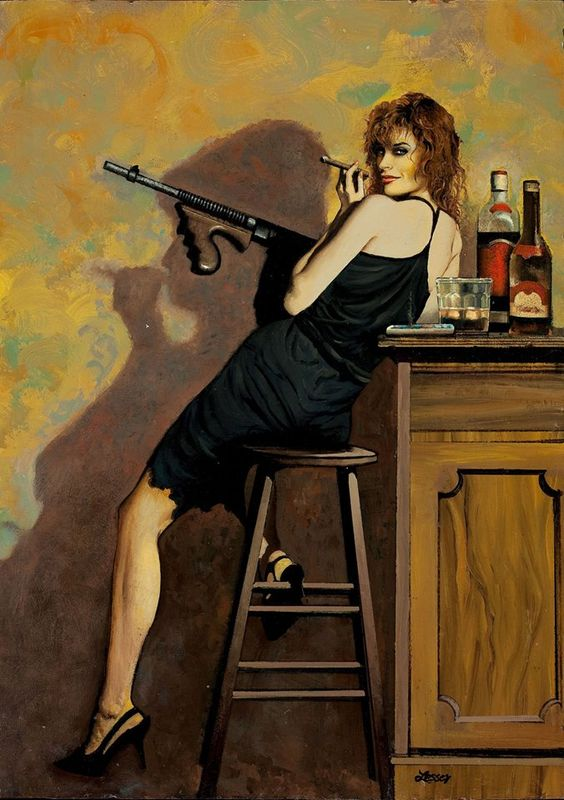 Ron Leser Vintage Pulp Art Illustration | Female-Centric Pulp Art | Sugary.Sweet | #Pulp #Art #Illustration