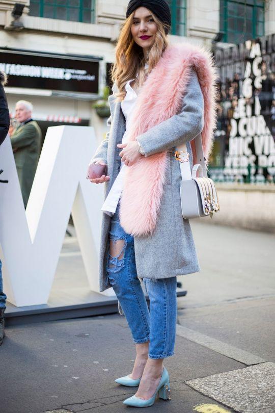 Street style from London fashion week autumn/winter '16/'17::