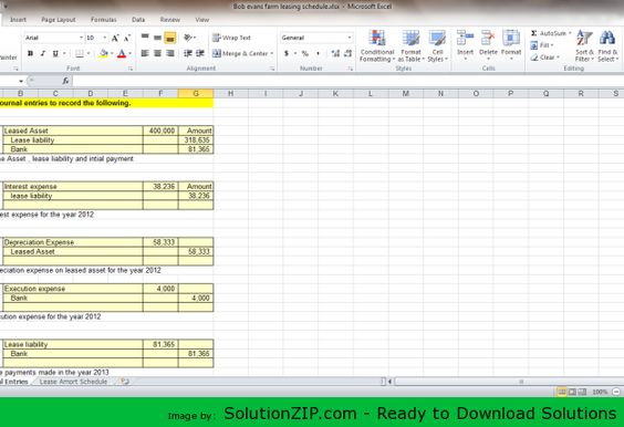 DL    solutionzip downloads bob-evans  Assume that the - lease payment calculator