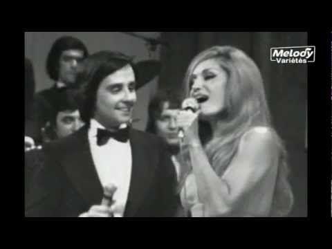 Dalide avec Thierry le Luron et Adamo (1973)