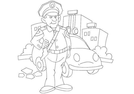 fireman and policeman coloring pages - photo #18