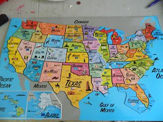 places I've been map