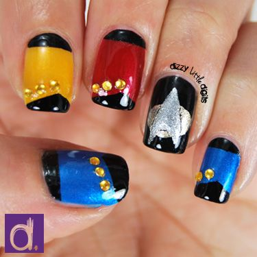 Star Trek Nails Trekkie Pinterest Nail Art Manicures And