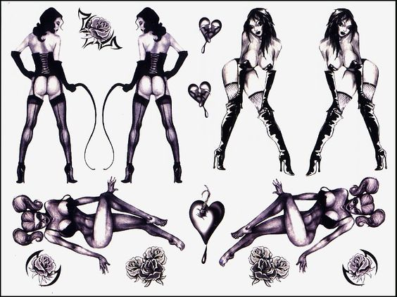 pin up girls with whip temporary tattoos naughty temporary tattoos pinterest sexy pin up. Black Bedroom Furniture Sets. Home Design Ideas