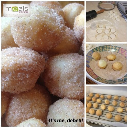 Easy Cinnamon Donut Holes. Made with premade pizza crust. So Simple! - It's me, debcb!