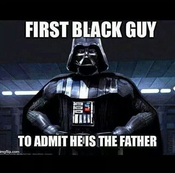 First black guy to admit he's the father