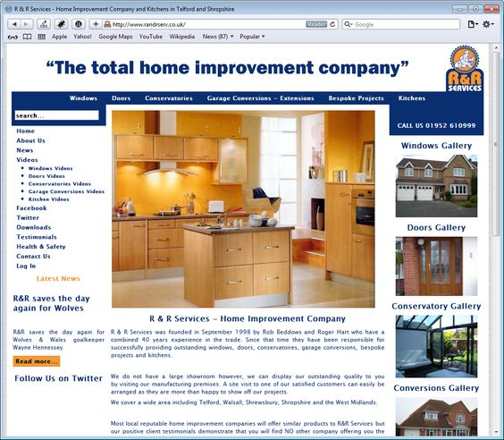 R Services - The total home improvement company based in Telford, Shropshire. Amazing kitchens, bathrooms, conservatories, orangeries...no job is too large, or too small!