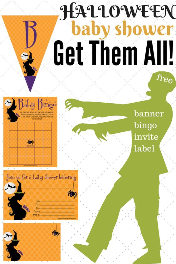 Halloween Baby Shower Invitations Games Decorations Print My Baby - Halloween baby shower invitations