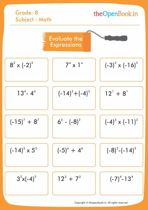 Theopenbook Create Math Worksheets For Kids Which Help Them To Explore Practice A Kids Math Worksheets Educational Worksheets Maths Activities Middle School