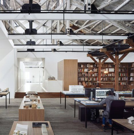 Industrial underworld and exposed trusses on pinterest Industrial design office space