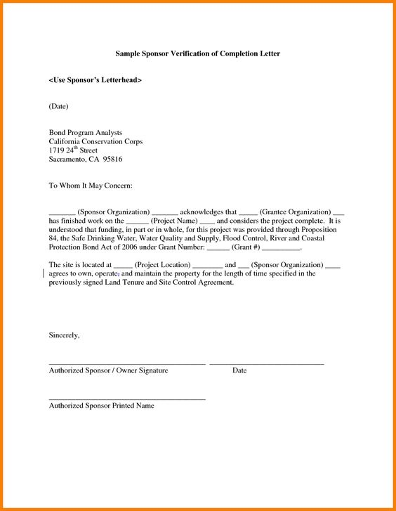certificate format work experience completion letter template - building completion certificate sample