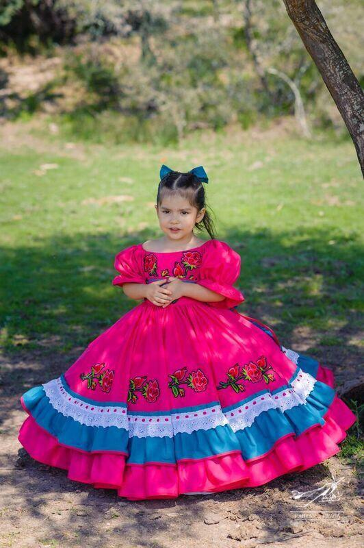 Vestido Para Fiesta Mexicana Vestido Mexicano Vestido