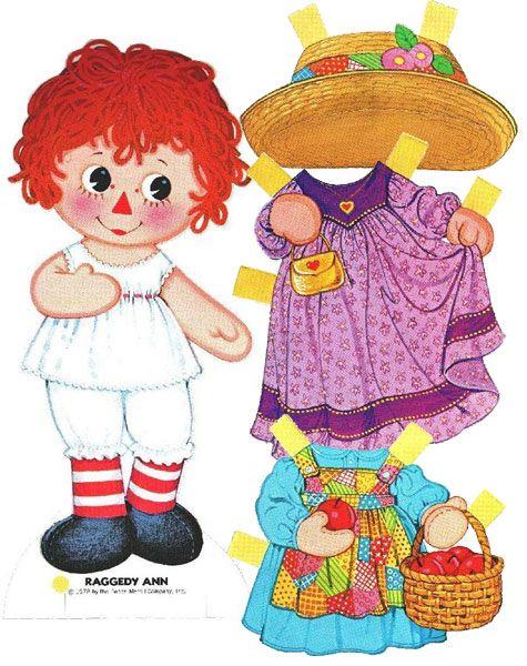 Raggedy Ann Paper Doll