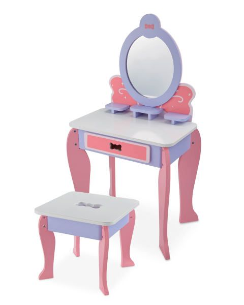 Pleasant Little Town Toy Vanity Table Stool Vanity Stool Table Lamtechconsult Wood Chair Design Ideas Lamtechconsultcom